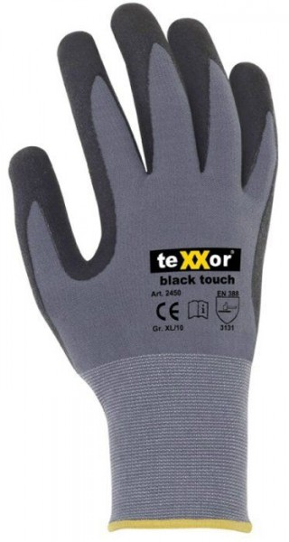 texxor black touch Nylon-Strickhandschuhe