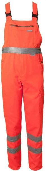 Planam Warnschutz Latzhose Uni orange