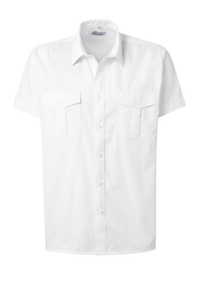 Pionier Pilot Hemd 1/2-Arm ohne Schulterklappen weiß