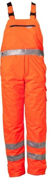 Planam Warnschutz Winter Latzhose Uni orange