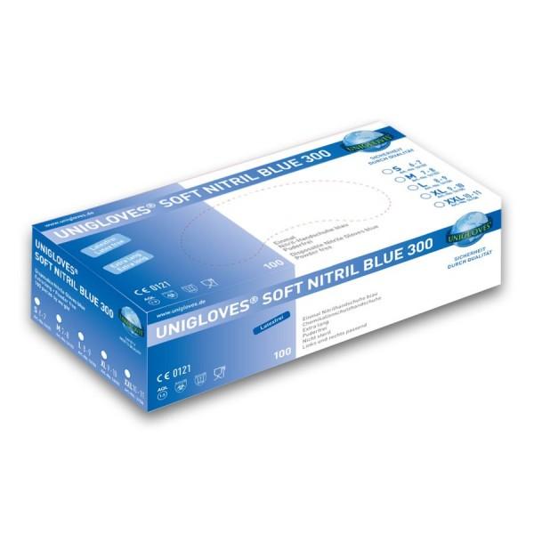 Unigloves Soft Blue 300 Nitril Einmalhandschuhe
