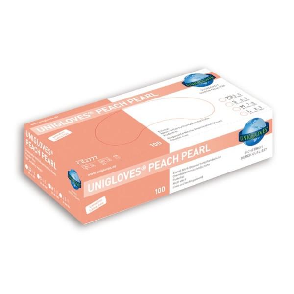 Unigloves Einweg-Handschuhe aus Nitril Peach Peral Box
