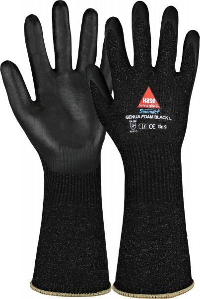 Hase Genua Foam Black L Montage-/Schnittschutzhandschuhe