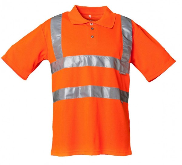 Planam Warnschutz Polo-Shirt Uni orange