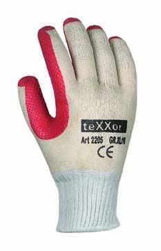 texxor Strickhandschuhe mit Latex beschichtet