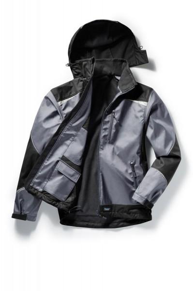 Pionier Softshell-Jacke 2-Farbig grau/schwarz
