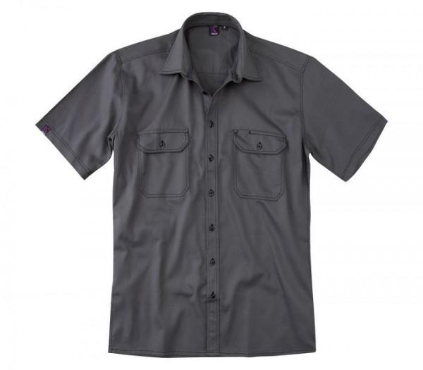 Kübler Shirt-Dress Hemd Kurzarm Form 7506 anthrazit
