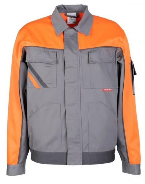 Planam Bundjacke V1 Visline zink/orange/schiefer