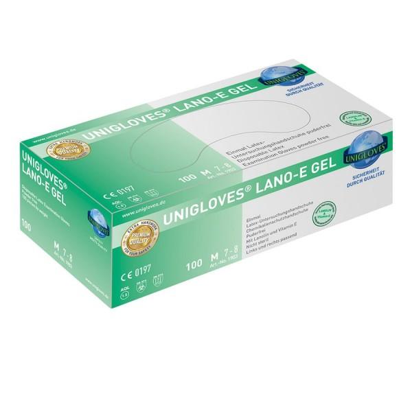 Unigloves LANO-E-GEL Latexhandschuhe Box