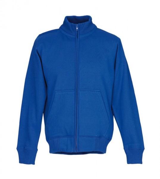 M&S Stehkragen-Sweat-Jacke royalblau