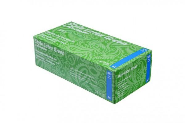 Ampri STYLE LATEX Green Einmalhandschuhe Box