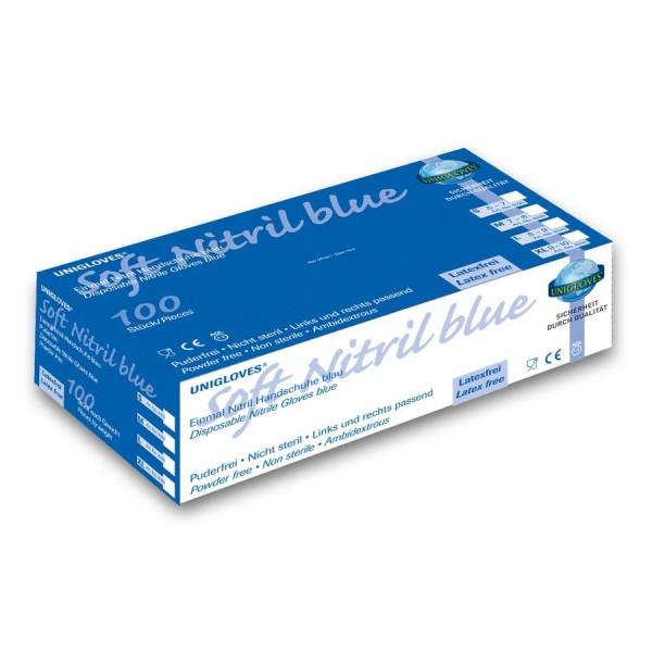 Unigloves Einweg-Handschuhe aus Nitril Soft Nitril Blue Eco Box