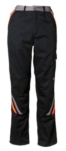 Planam Bundhose Visline schwarz/orange/zink