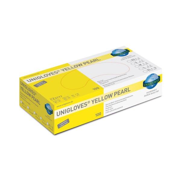 Unigloves Yellow Pearl Nitril Einweg-Handschuhe