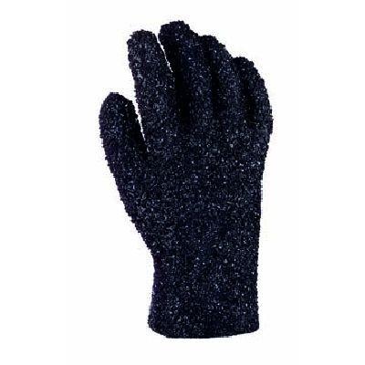 Granulierte PVC-Handschuhe in schwarz