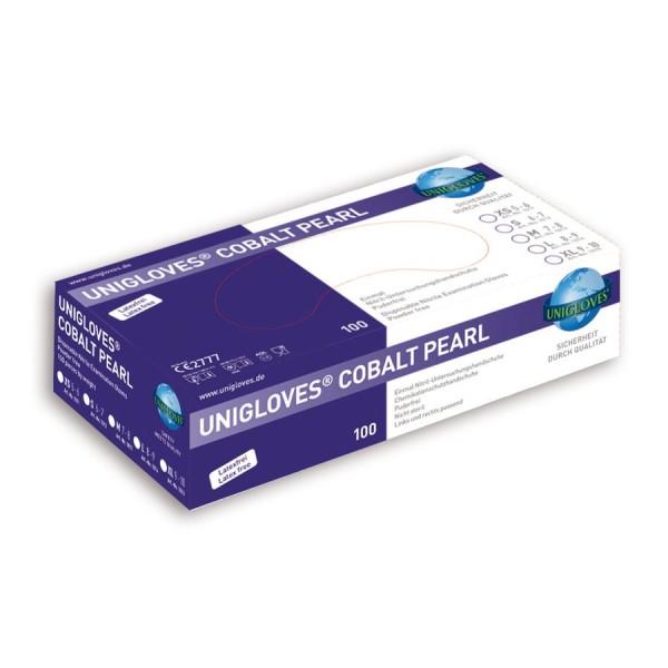 Unigloves Einweg-Untersuchungshandschuhe aus Nitril COBALT PEARL Box