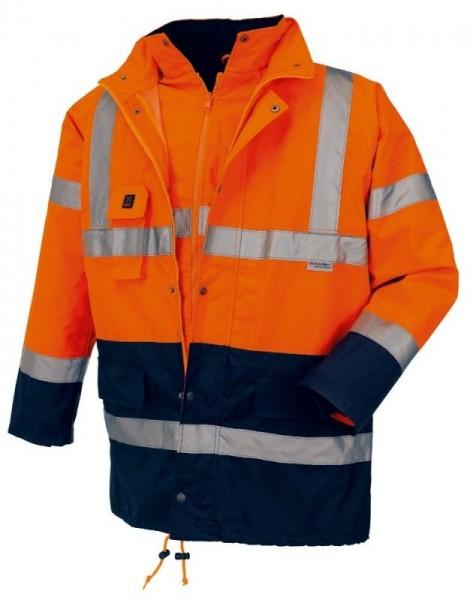 texxor Warnschutz-Parka mit Jacke leuchtorange/navy