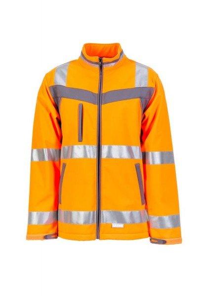Planam Plaline Warnschutz Softshell Jacke orange/schiefer