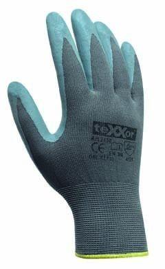 texxor Nylon-Strickhandschuhe mit Nitrilbeschichtung