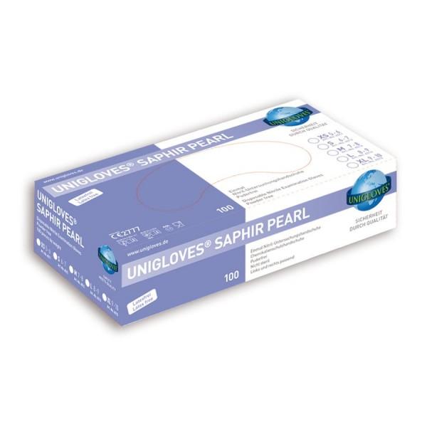 Unigloves Einweg-Handschuhe aus Nitril Saphir Peral Box