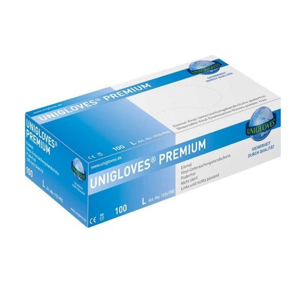 Unigloves PREMIUM Vinyl Einmalhandschuhe Box