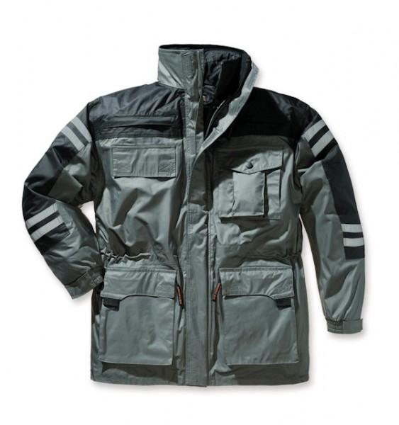 Elutex 5 in 1-Jacke grau/schwarz