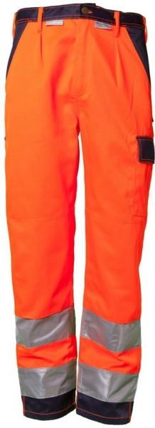 Planam Warnschutz Bundhose Kontrast orange/marine